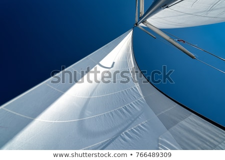 Sailing Ship Rigging and Blue Sky Stock photo © pixelsnap