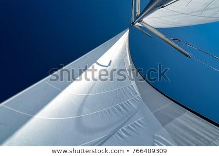 schip · detail · blauwe · hemel · oceaan · reizen · wind - stockfoto © pixelsnap