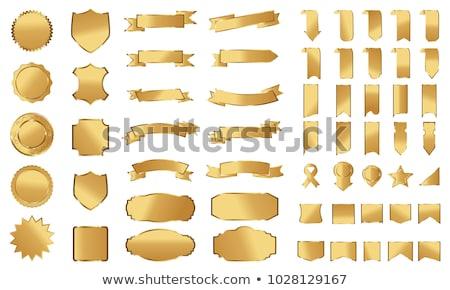 красный · печать · золото · вектора · изолированный - Сток-фото © gladiolus