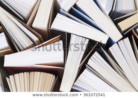 башни · книгах · изолированный · белый · книга · школы - Сток-фото © oly5