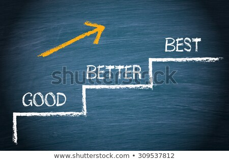 Jó jobb legjobb szürke fényes arany Stock fotó © 3mc