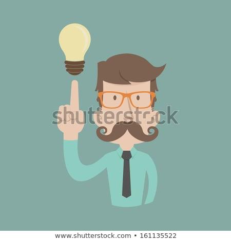Zakenman denken eps10 vector formaat business Stockfoto © ratch0013