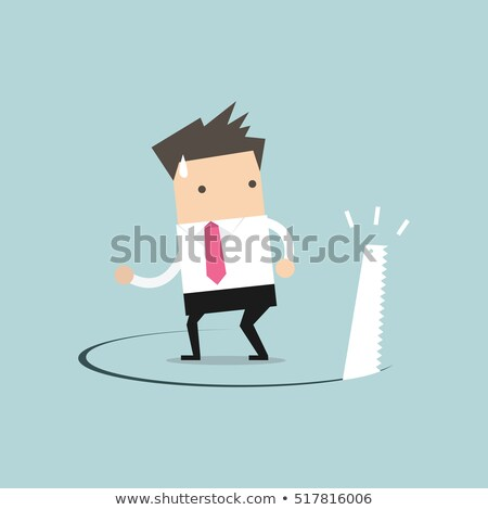 Businessman stands on hole cut by a saw Stock photo © ratch0013