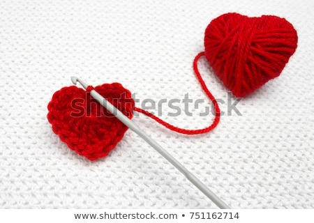 thread of wool like heart stock photo © mycola