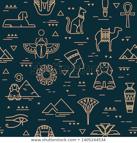 Seamless Egypt Pattern Stock photo © MasaMima