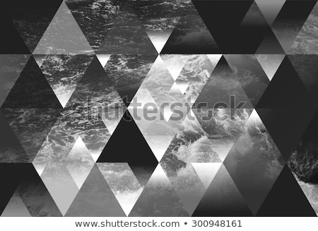 stormy seas black and white stock photo © thp