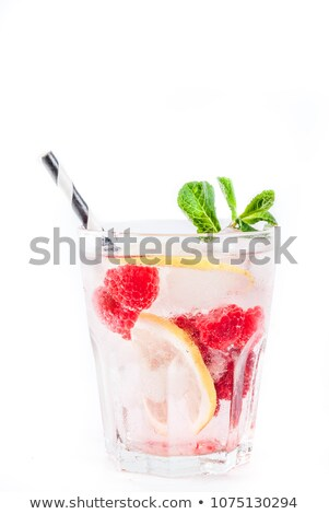 Sparkling Raspberry Lemon Water Stock photo © songbird