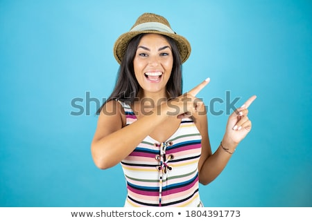 Beautiful woman with an attitude in a swimsuit Stock photo © dash