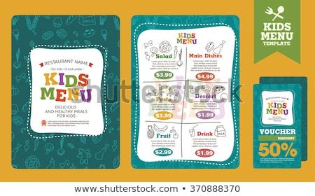 Kids Food Stock photo © fanfo
