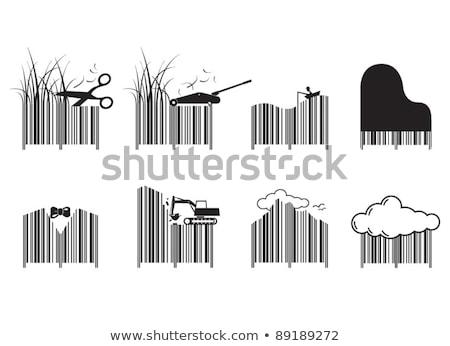 Vonalkód felhő üzlet égbolt háttér fekete Stock fotó © shawlinmohd