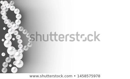 Frame onda frizzante gioielli illustrazione bellezza Foto d'archivio © yurkina