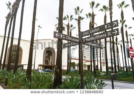 оранжевый дисков улице подписать Голливуд улице фон Сток-фото © meinzahn