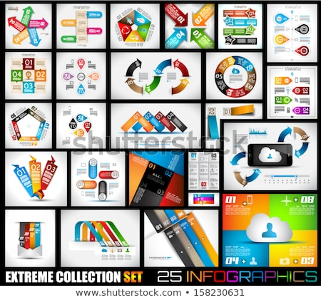 collection of quality infographics background stock photo © davidarts