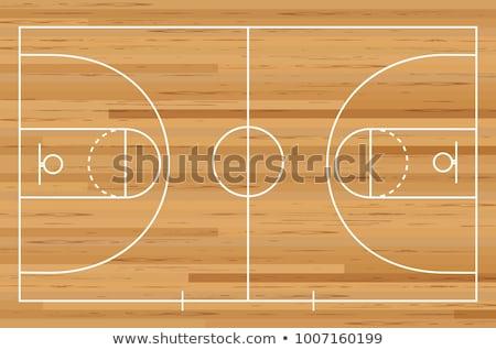 баскетбольная · площадка · фото · выстрел · закат · облака · солнце - Сток-фото © junpinzon