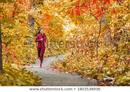 осень · запустить · девушки · работает · деревья · женщину - Сток-фото © pressmaster