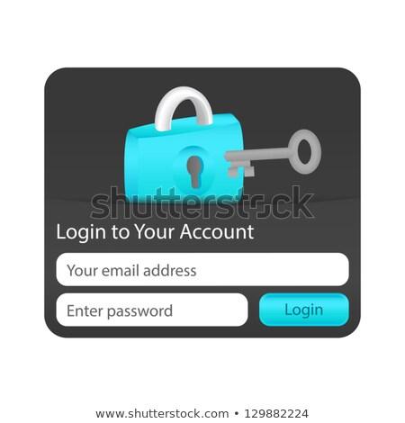Login konto formularza strony internetowe aplikacje blokady Zdjęcia stock © liliwhite