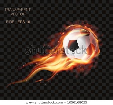 футбольным · мячом · огня · Бразилия · флаг · иллюстрация · Футбол - Сток-фото © pinnacleanimates