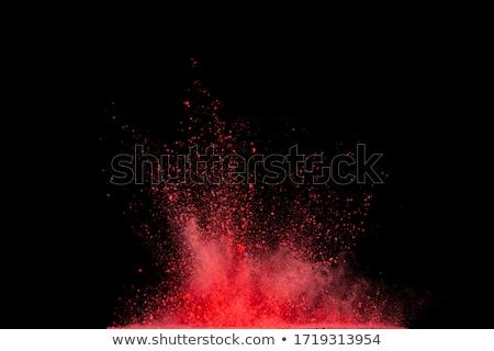 branco · pó · explosão · isolado · preto · e · branco · preto - foto stock © nejron