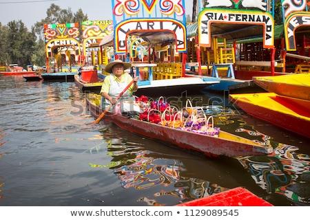 łodzi jezioro Meksyk Meksyk wody fotografii Zdjęcia stock © bmonteny