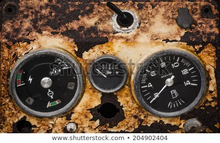 Grunge dashboard of an old abandoned vehicle Stock photo © Lizard