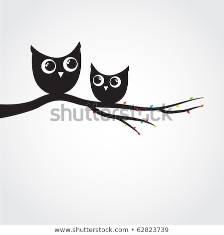 Two Cute Decorative Owls Stock fotó © mcherevan