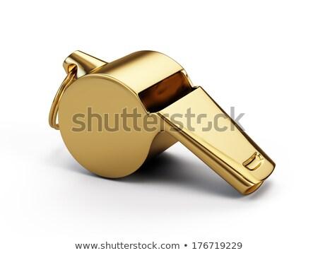Arany síp 3d illusztráció izolált fehér sport Stock fotó © montego