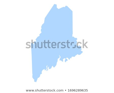 map of maine stock photo © rbiedermann