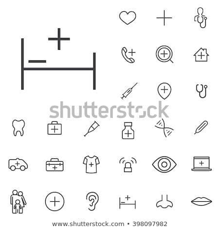 Medical Icons -- Outline Button Stock photo © Palsur