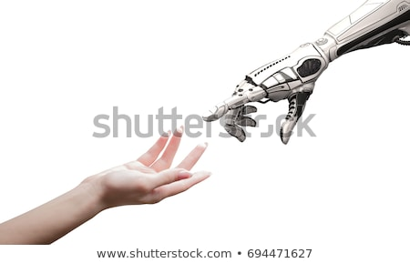Female Human and Robot - Artificial Intelligence Technology Stock photo © ankarb