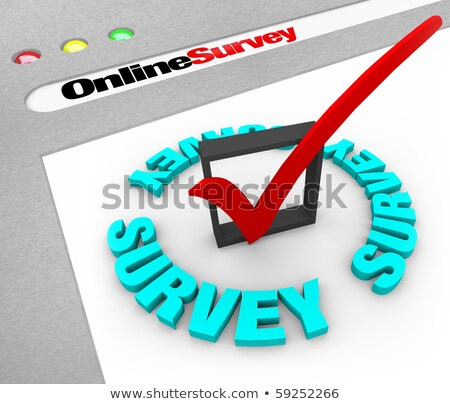 çevrimiçi · anket · web · ekran · tarayıcı · pencere - stok fotoğraf © alexmillos