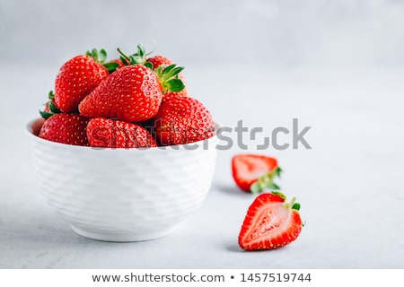 Plate with strawberries Stock photo © fresh_4870785