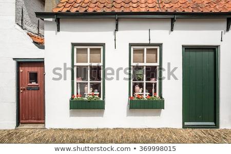 Porcelán holland házak modell hagyományos otthon Stock fotó © wime