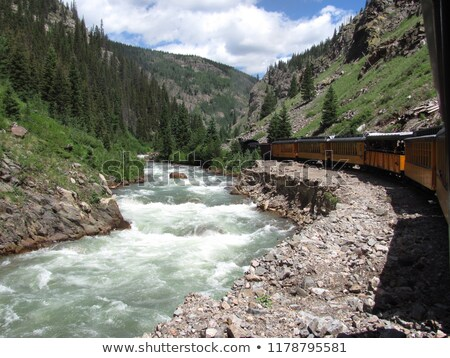 узкий железная дорога Колорадо США снега Сток-фото © phbcz