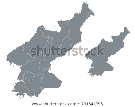 silhouette map of North Korea Stock photo © mayboro