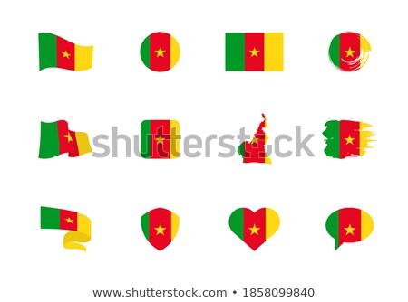 mapa · Camerún · político · regiones · resumen - foto stock © istanbul2009