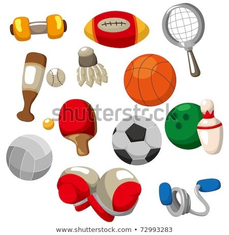 boldog · rajz · teniszlabda · karakter · illusztráció · integet - stock fotó © lineartestpilot