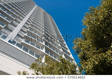 facade of an apartment building in japan stock photo © ymgerman