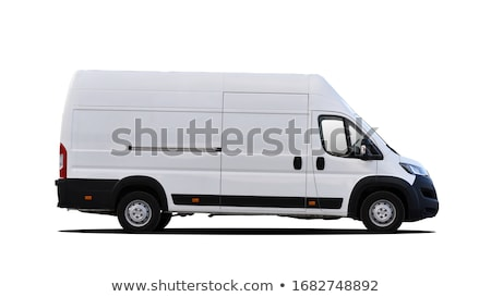 Photo stock: Blanche · van · isolé · affaires · voiture · fond