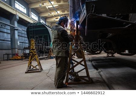 the repair rail station  Stock photo © OleksandrO