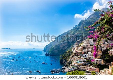Pitoresco costa Itália paisagem montanha verão Foto stock © amok