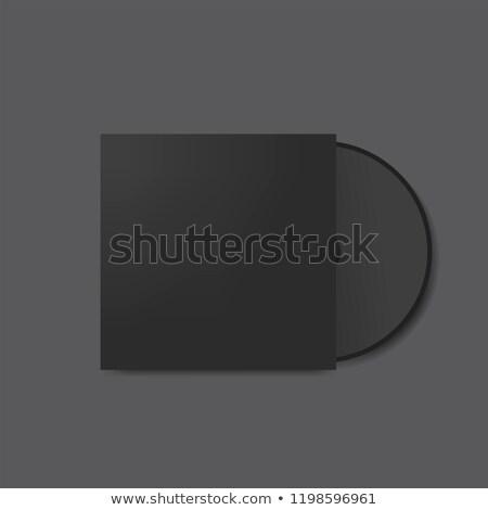 Lemez borító papír tok fehér számítógép Stock fotó © romvo