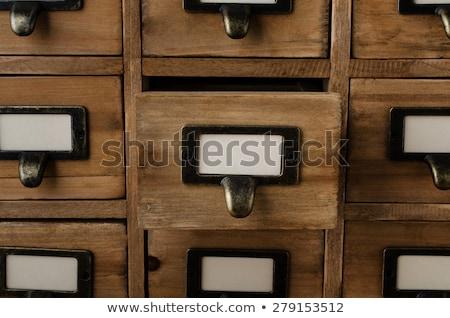 file · cassetto · etichetta · bianco · vecchio - foto d'archivio © 3mc