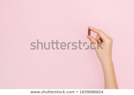 Roze pijnstiller pillen witte gezondheid geneeskunde Stockfoto © Rob_Stark