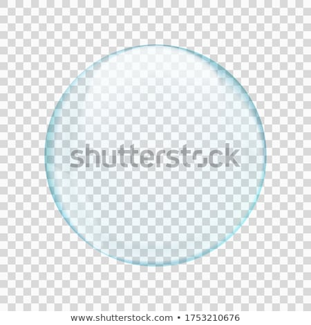 Vetro perline bella primo piano bianco sfondo Foto d'archivio © Nneirda