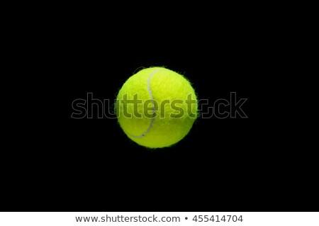 Tenis topu yalıtılmış siyah spor arka plan tenis Stok fotoğraf © razvanphotos