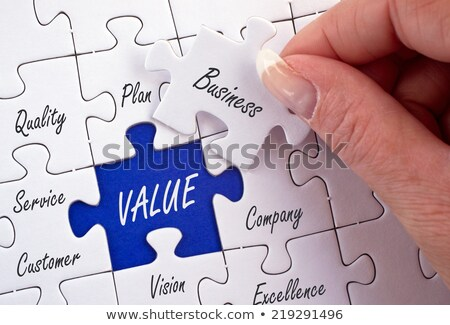 polityka · niebieski · puzzle · obraz · świadczonych - zdjęcia stock © tashatuvango