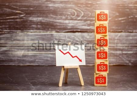 Közgazdaságtan szó újság kávé háttér hírek Stock fotó © fuzzbones0
