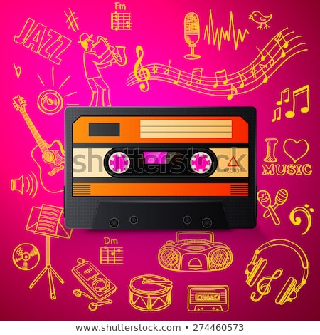 cassette and hand draw misic icon Stock photo © netkov1