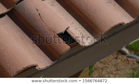 tile roofing repair closeup stock photo © roboriginal