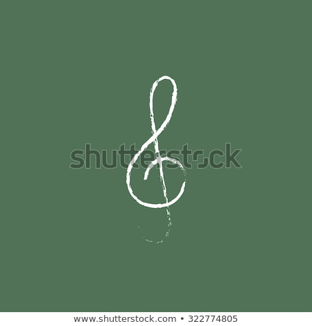 музыку · сведению · икона · мелом · рисованной - Сток-фото © rastudio